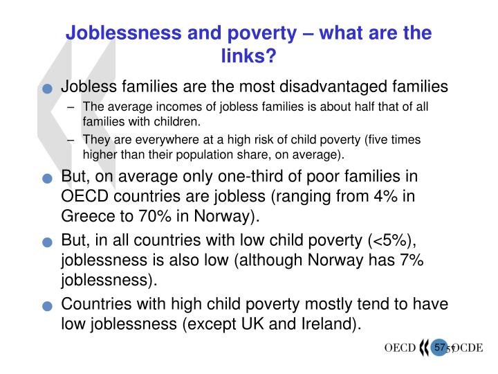 Joblessness and poverty – what are the links?