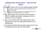 joblessness and poverty what are the links