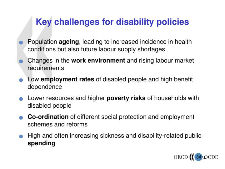 Key challenges for disability policies