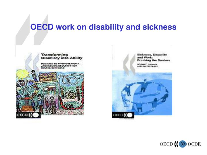 OECD work on disability and sickness