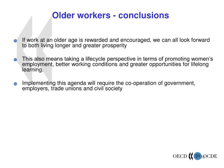 Older workers - conclusions