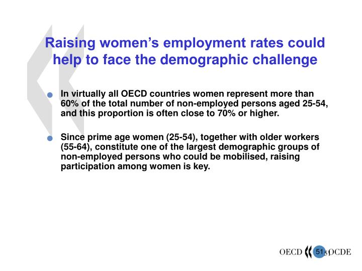 Raising women's employment rates could help to face the demographic challenge