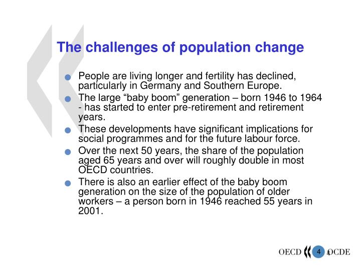 The challenges of population change