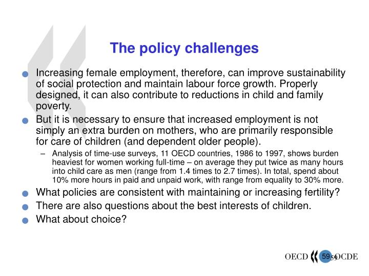 The policy challenges