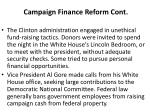 campaign finance reform cont