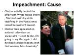 impeachment cause