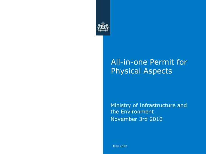 all in one permit for physical asp ects