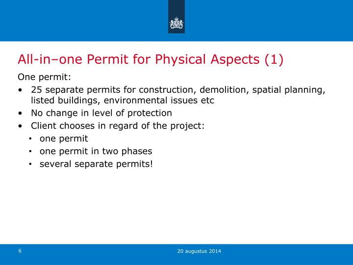 All-in–one Permit for Physical Aspects (1)