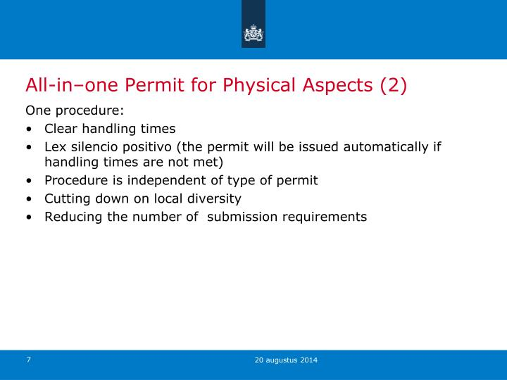 All-in–one Permit for Physical Aspects (2)