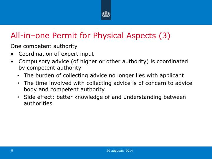 All-in–one Permit for Physical Aspects (3)