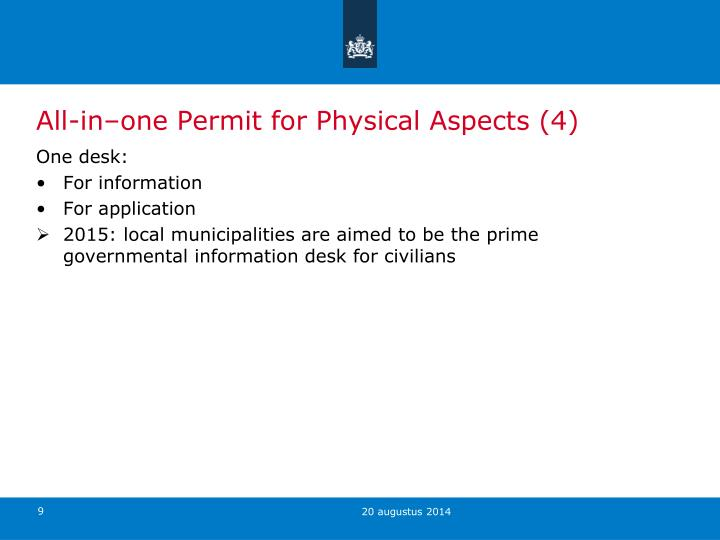 All-in–one Permit for Physical Aspects (4)