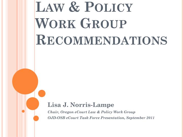 Law & Policy