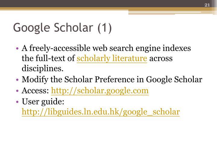 Google Scholar (1)