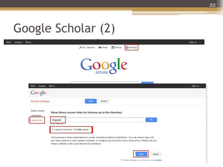 Google Scholar (2)
