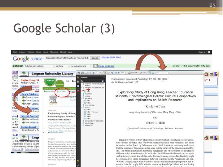 Google Scholar (3)