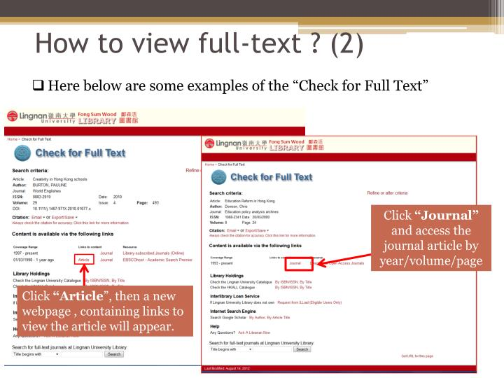 How to view full