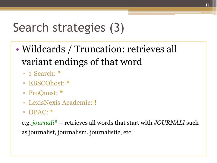 Search strategies (3)