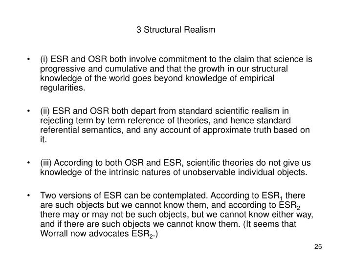 3 Structural Realism