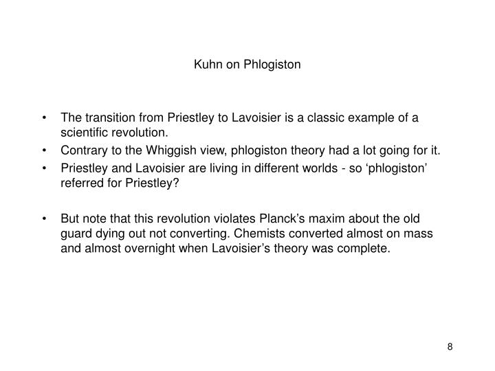 Kuhn on Phlogiston