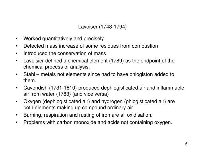 Lavoiser (1743-1794)