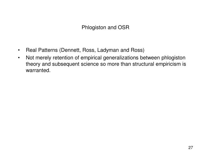 Phlogiston and OSR
