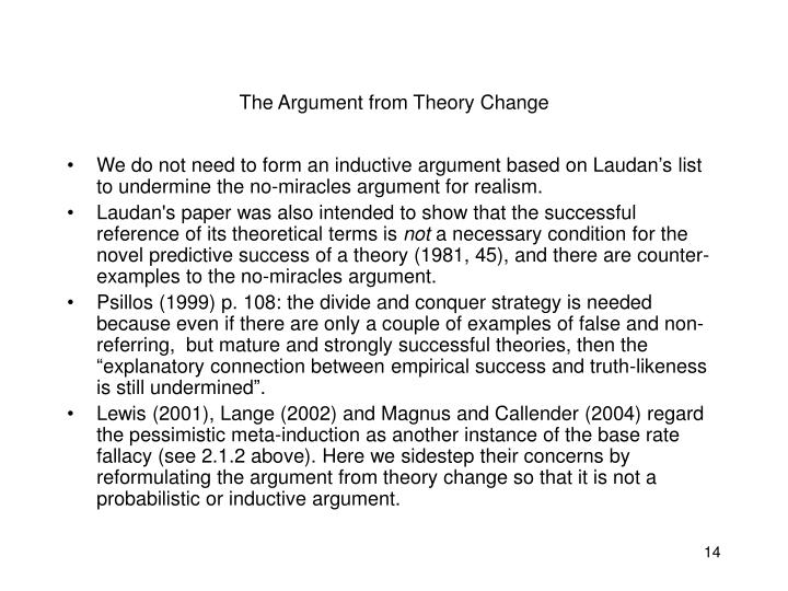 The Argument from Theory Change