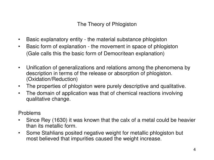The Theory of Phlogiston