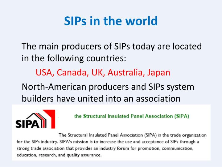 SIPs in the world