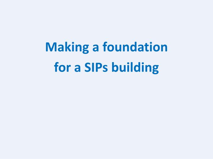 Making a foundation