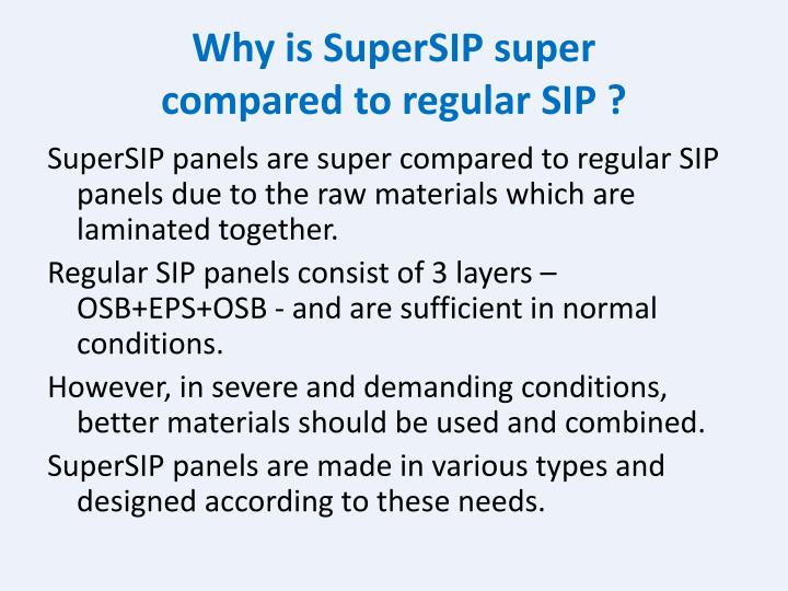Why is SuperSIP super