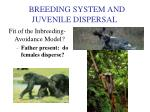 breeding system and juvenile dispersal4