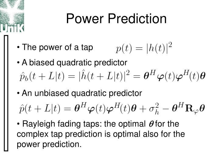 Power Prediction