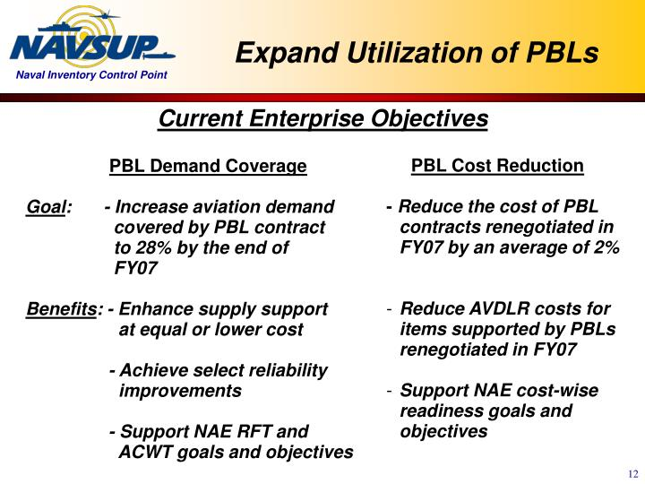 Expand Utilization of PBLs
