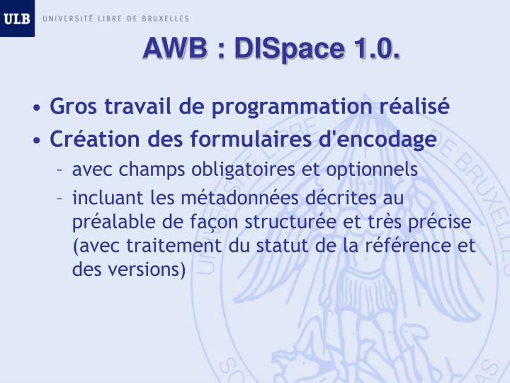 AWB : DISpace 1.0.
