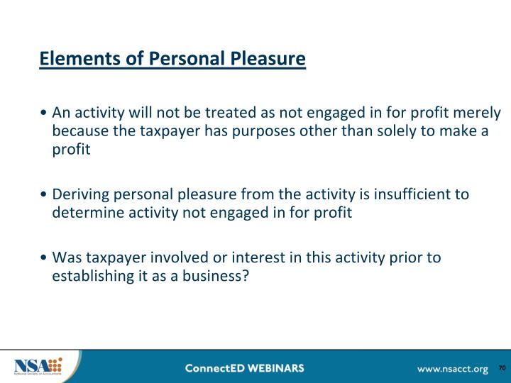 Elements of Personal Pleasure