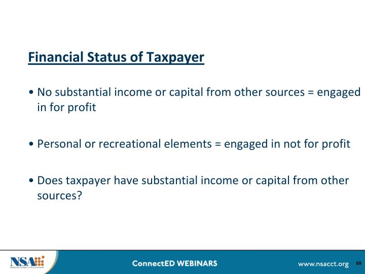 Financial Status of Taxpayer