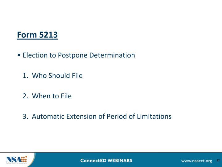 Form 5213