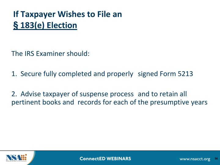 If Taxpayer Wishes to File an