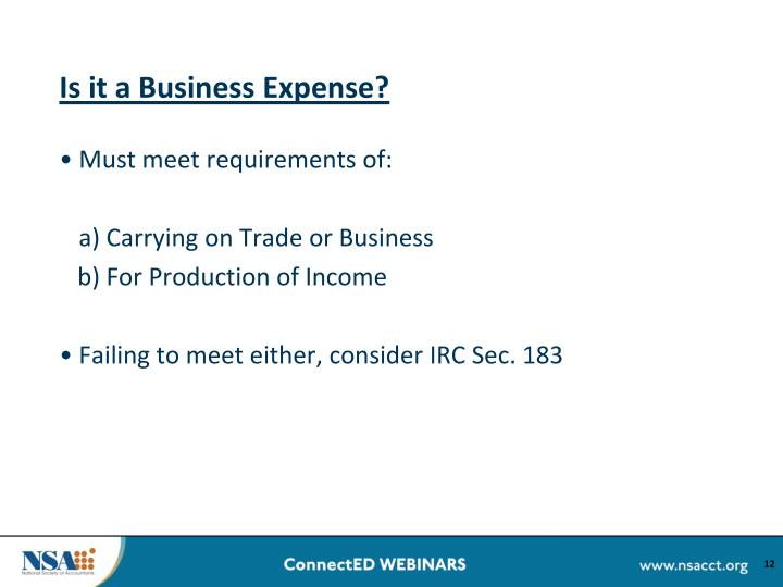Is it a Business Expense?