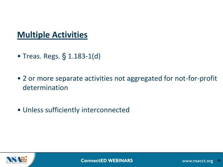 Multiple Activities