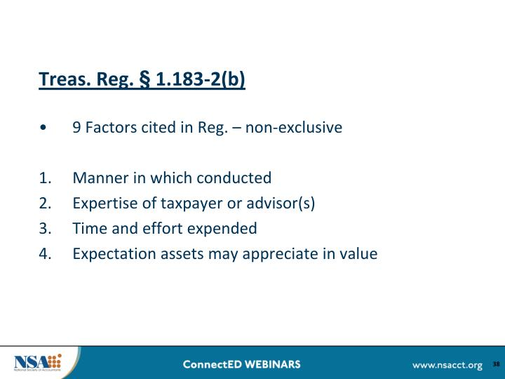 Treas. Reg. § 1.183-2(b)