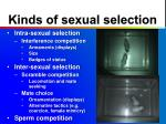 kinds of sexual selection