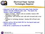 electrical power system technologies required