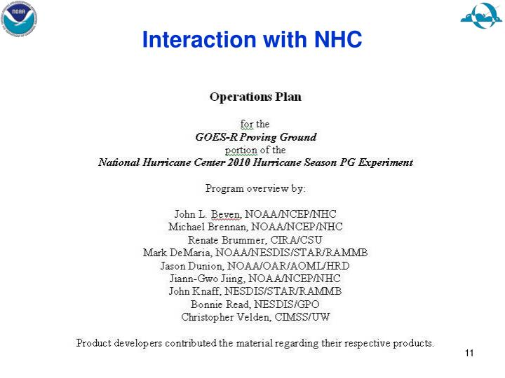 Interaction with NHC