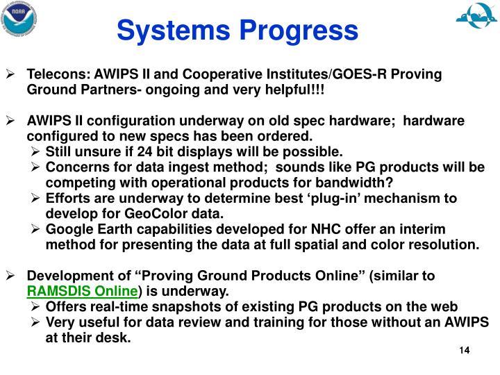 Systems Progress