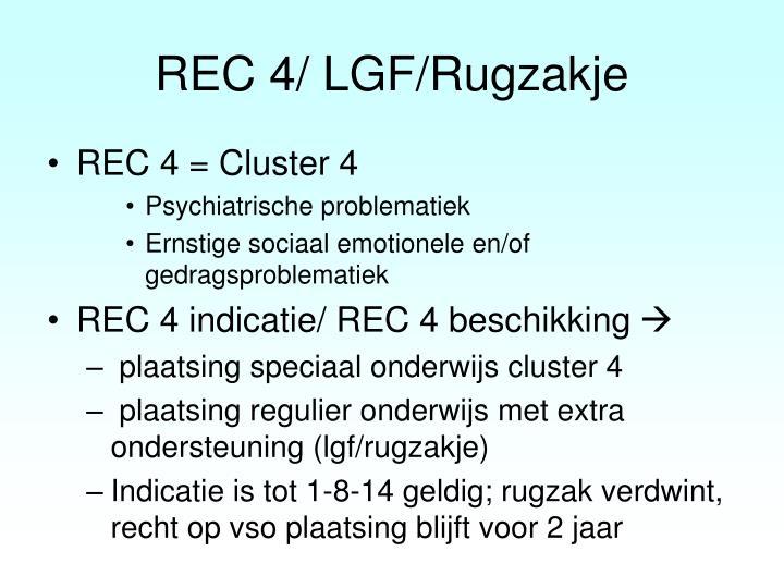 REC 4/ LGF/Rugzakje