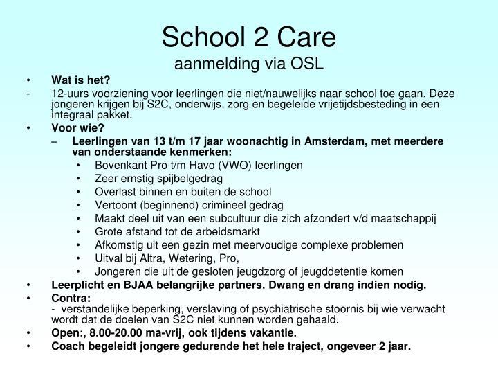 School 2 Care