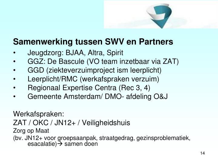 Samenwerking tussen SWV en Partners