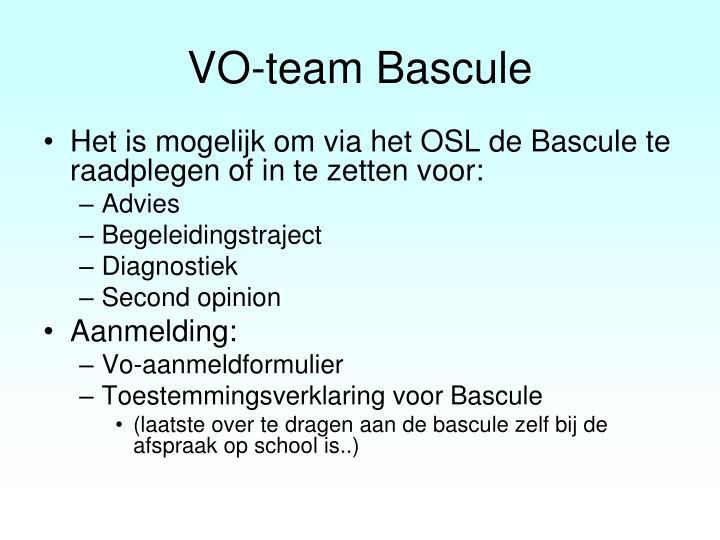 VO-team Bascule
