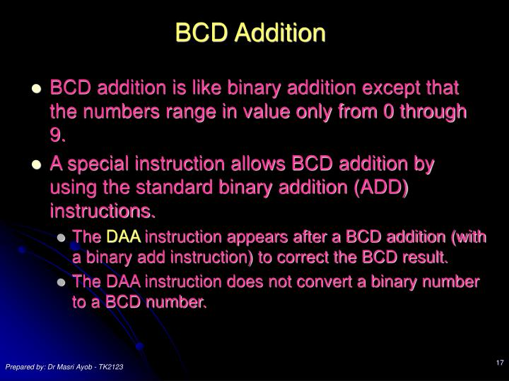 BCD Addition